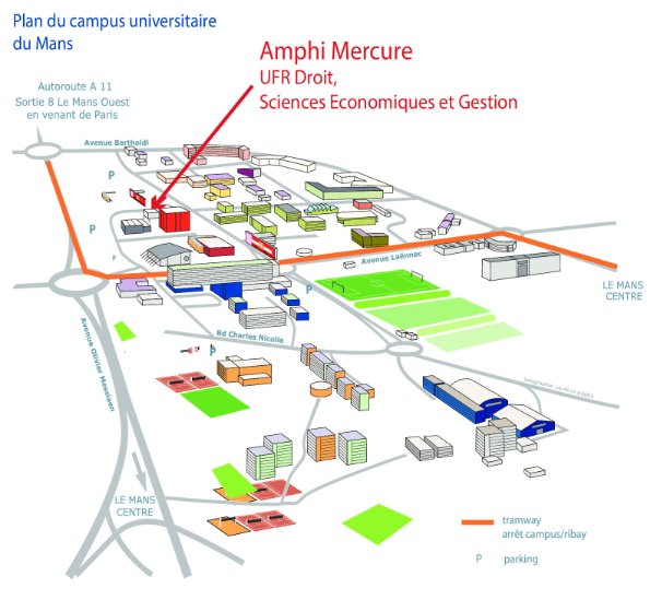 Plan du campus Le Mans